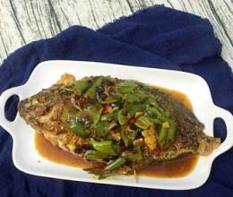 尖椒焖鱼#晚餐#