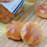 白桃果酱面包(一次发酵)