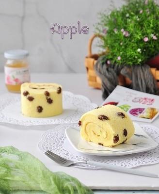 葡萄干白桃酱蛋糕卷#丘比沙拉酱#
