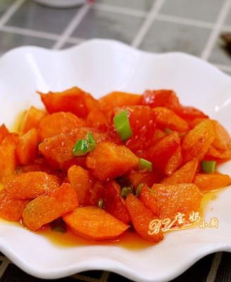 胡萝卜炒西红柿