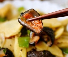 红极参炒笋片