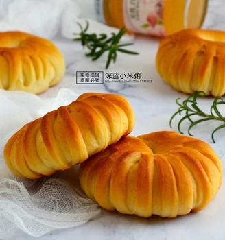 白桃果酱面包圈#丘比果酱#