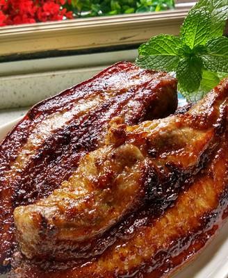 烤五花肉---烤箱菜譜