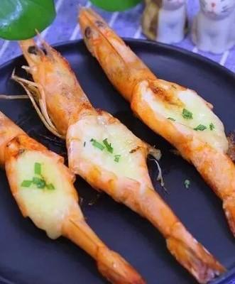 宝宝辅食-香煎芝士虾