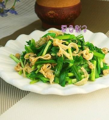韭菜炒鲍边