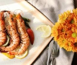 煎烤迷迭香大虾