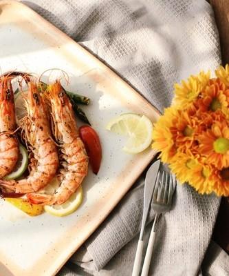 煎烤迷迭香大蝦