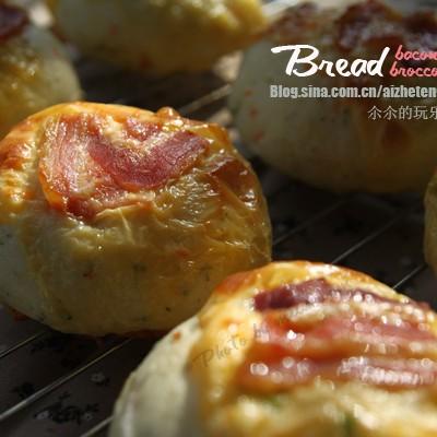 用西兰花做面包,有菜有肉有营养:蔬菜培根面包