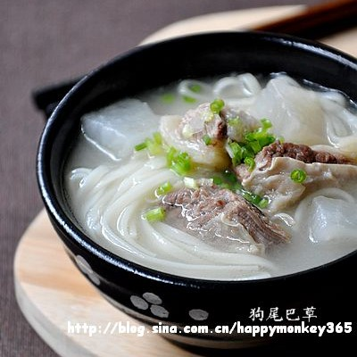 早餐16【萝卜牛腩汤面】