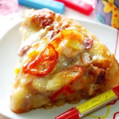 完美的配角——用料十足的南瓜酱海陆双享披萨