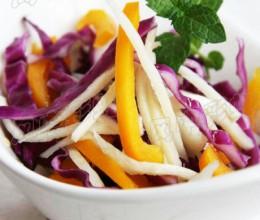 怎样看待蔬菜中的农药【紫甘兰拌茭白】