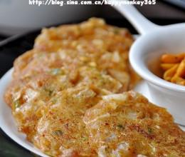 早餐19【蘑菇泡菜煎饼+白粥+哈密瓜】