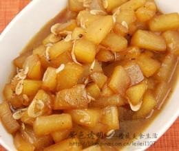 减肥族首选的似肉非肉荤味素菜--虾皮蚝油烧冬瓜(巧去冬瓜皮)