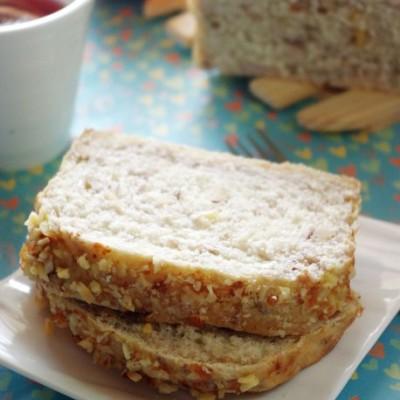 令人疯狂又着迷的神奇面团——健康版奶香燕麦坚果吐司