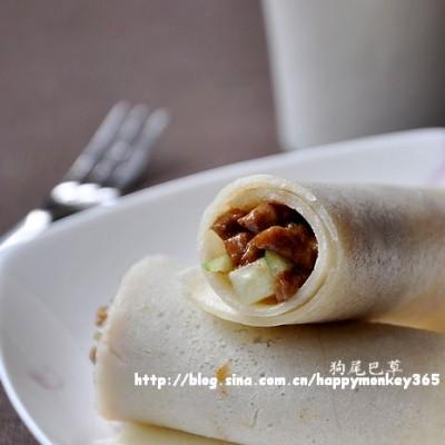 早餐23【奶香牛肉卷饼+牛奶+火龙果】