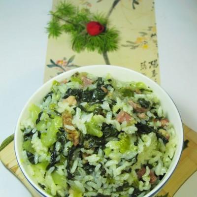 大雪来临时温暖我们肠胃的一碗香浓的菜饭------附煮饭的小秘诀