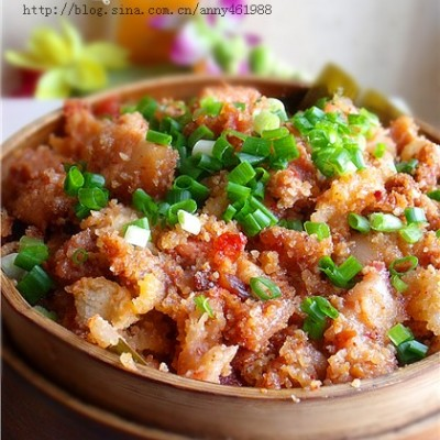 柚子皮变身餐桌上最受欢迎的消食解腻菜——柚香粉蒸肉