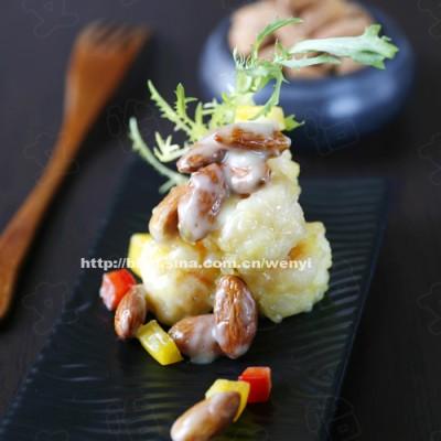 强烈推荐一道好吃的菜-----芥末杏仁虾球(含好吃酱料做法)