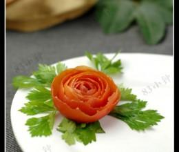 3分钟摆盘装饰。【番茄玫瑰】