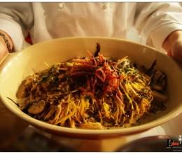 用意大利的烹调方式料理中国两头乌火腿---可以生吃的中国火腿