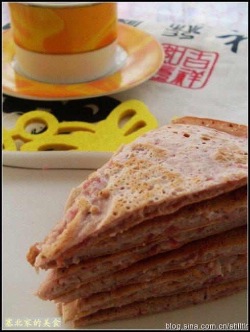 颠覆传统口味的煎饼——草莓鸡蛋煎饼