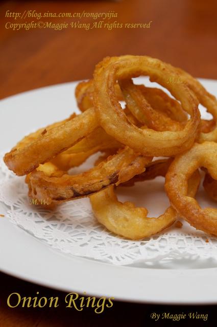 在美国加拿大随处可见的小吃-油炸洋葱圈OnionRings