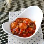 火锅剩料变身为让孩子停不了口的一道菜--茄汁虾丸