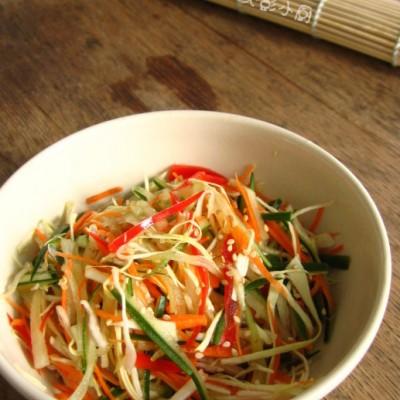巧用保鲜袋,5分钟做泡菜---速食泡菜