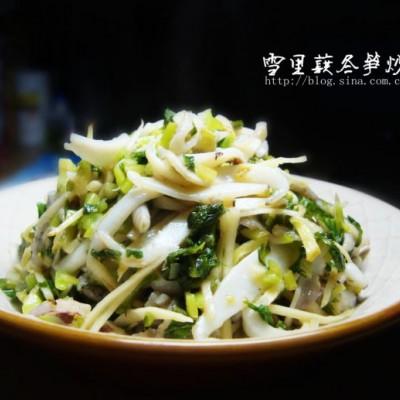 一道极其霸道的升级版上海菜----雪里蕻冬笋炒墨鱼