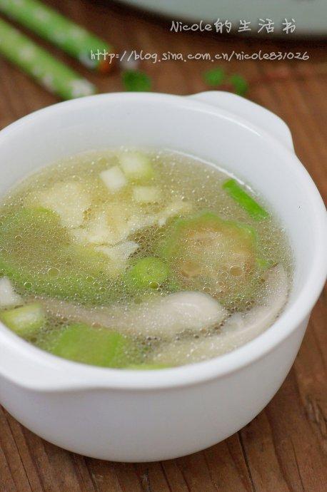 好汤照样可以省时省力——快手鲜蘑丝瓜蛋汤