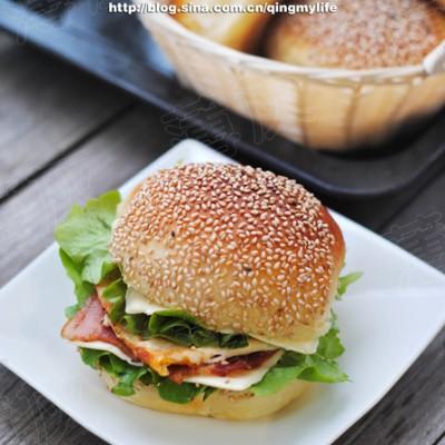 【培根芝士蛋堡】保持健康活力一整天的早餐(老面法)