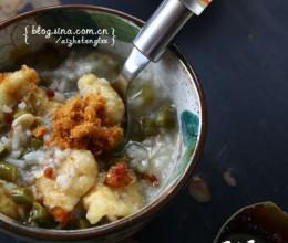 一碗米饭变身病号的开胃粥:酸豇豆虾皮粥