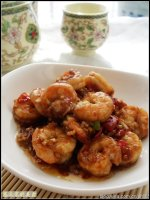 用做古老肉的方法来做虾——菠萝古老虾
