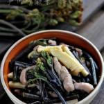 春吃一口鲜--笋肉炒蕨菜