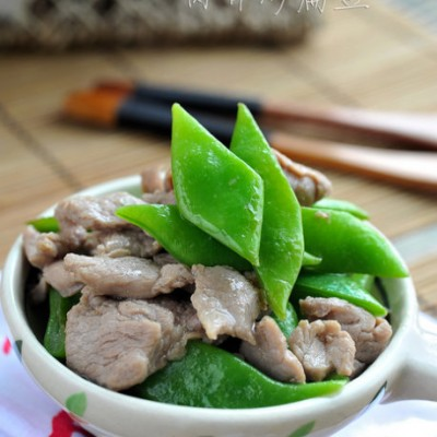 健胃补气食疗菜--肉片炒扁豆