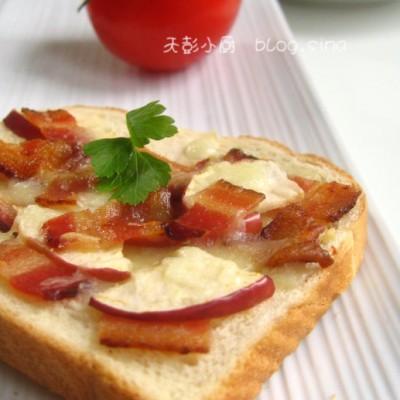 绝对让你惊喜的培根苹果组合---香烤培根苹果三明治