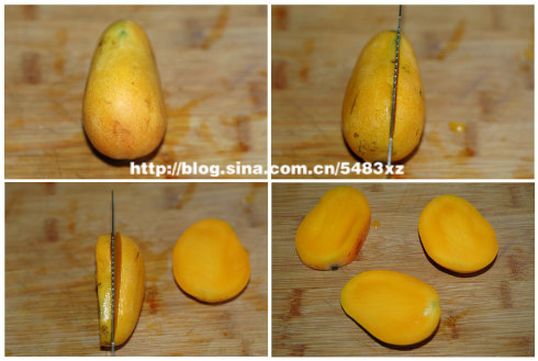 切芒果方法图解—巧取芒果果肉