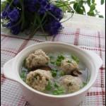 巧用剩豆渣做出光滑白嫩的丸子——豆渣丸子粉丝汤
