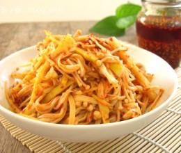 把握三个关键轻松自制香辣红油---红油笋丝&金针菇