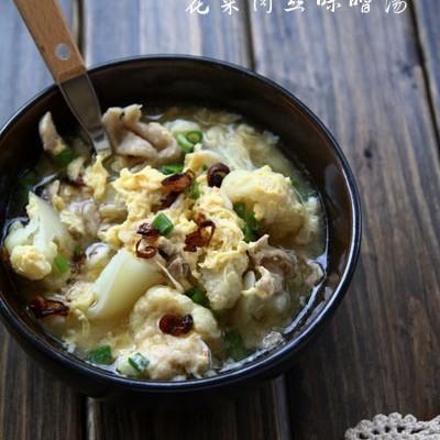 不会烹饪也能煮出好吃的家常美味汤:花菜肉丝味噌汤
