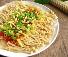 享受海鲜待遇的金针菇---剁椒粉丝金针菇