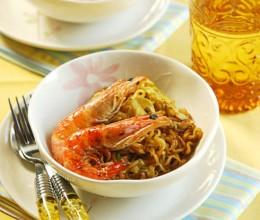 泰式黑胡椒鲜虾面--夏天换种味道方便吃面