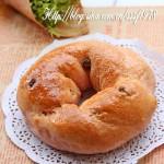 清新健康的乐活养生面包红曲枸杞花环包