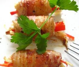 简约食材出美味之一:零调料就能搞定的小资菜肴---培根蔬菜卷