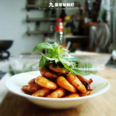 第一口感会让你惊艳的一道菜-----九层塔秘制虾