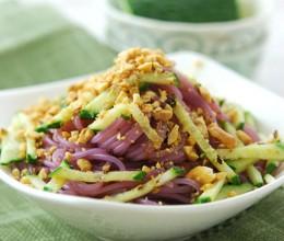 凉拌紫薯粉以紫色的名义吃素--清爽凉菜斗苦夏
