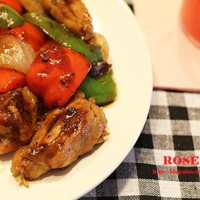 轻松做出星级饭店的味道一瓶调料搞定高难度的黑椒鸡块