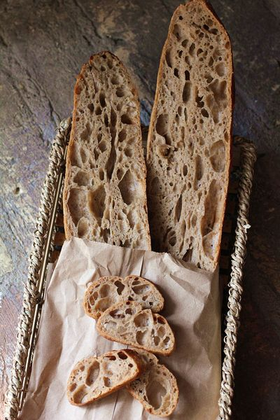 36小时天然酵种糯米粉法棍-比浆糊还粘手