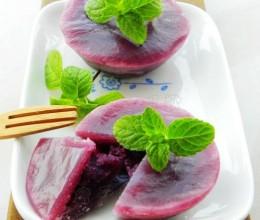 紫薯控一定要尝试的免烤点心——【椰香紫薯小碗糕】