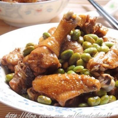 毛豆烧仔鸡&盐水毛豆
